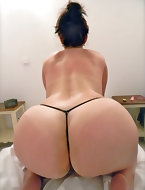Gorgeous gals with corpulent asses